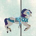 Teal Carousel Horse by chaitea4
