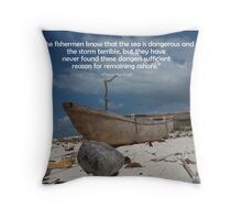 Coconut Boat Throw Pillow