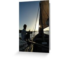 Dhow Sailing  Greeting Card