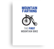 The First Mountain Bike: the mountain farthing Canvas Print