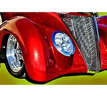 Red Hot And Silver Photographic Print