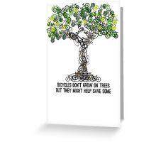 Bike Tree Greeting Card