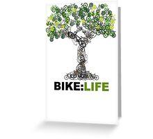 BIKE:LIFE tree Greeting Card