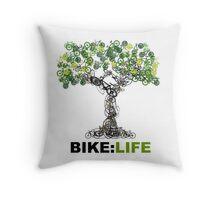 BIKE:LIFE tree Throw Pillow