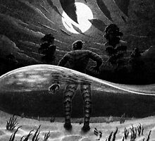 Drawlloween 2014: Creature from the Black Lagoon by brianluong
