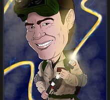 Ray Stanz, Ghostbusters, Dan Aykroyd, Caricature by monkeycircusart