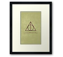 Dumbledore to Harry Framed Print