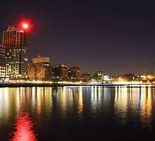Night Lights Reflections by pmarella
