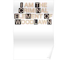 I am the criminal element of Woodlawn Poster