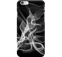 White Abstract Swirl on Black iPhone Case/Skin
