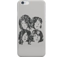 NEW DESIGN - The Four Faces - Dark Grey Extreme Distress iPhone Case/Skin