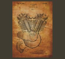 Harley Engine patent from 1919  T-Shirt