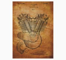 Harley Engine patent from 1919  Kids Clothes