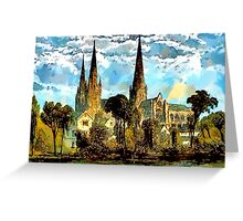 Lichfield Cathedral, Staffordshire - all products Greeting Card