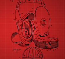Football Helmet Patent  From 1927 - Red by chris2766