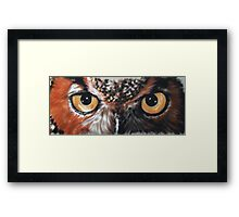 Eye-Catching Great Horned Owl Framed Print