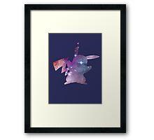 cosmic pikachu Framed Print
