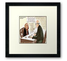 Upwardly Mobile Dogs Framed Print