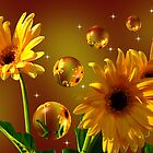 The World Of Sunflowers 6 by Angi Baker
