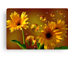 The World Of Sunflowers 6 Canvas Print