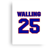 National baseball player Denny Walling jersey 25 Canvas Print