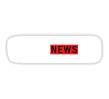 WEAZEL News - L-dark Sticker