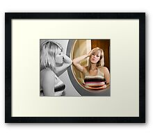 Two shades of life Framed Print