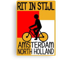 AMSTERDAM, NORTH HOLLAND-RIT IN STIJL Canvas Print