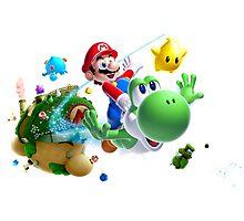 Mario & Yoshi Photographic Print