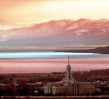 Mount Timpanogos Temple - Pastels by Ryan Houston