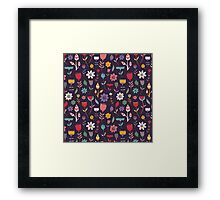 Colorful Abstract Floral Pattern Framed Print