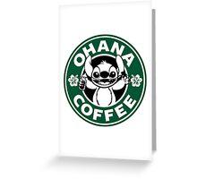 Ohana Coffee Greeting Card