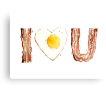 Bacon and Egg LOVE Canvas Print