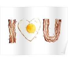 Bacon and Egg LOVE Poster