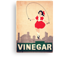 Skipping Girl Vinegar Canvas Print