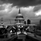St Paul's and the Millennium Bridge, London by Matthew Walters
