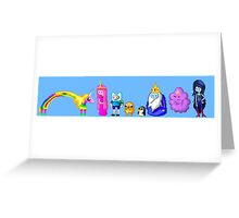 Adventure Time Pixelated Greeting Card