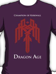 Champion of Kirkwall Dragon Age 2 white text T-Shirt