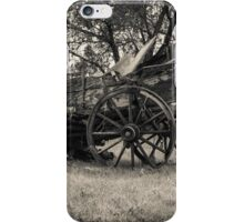 Old broken down wagon iPhone Case/Skin
