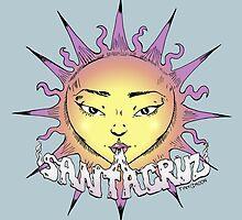 Santa Cruz Sun by tinymoondesign