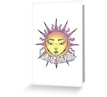 Santa Cruz Sun Greeting Card