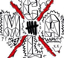 C-A-L-M (black&red) by DrawingsbySavy