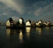 Thames Flood Barrier by DavidFrench