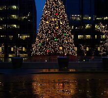 Christmas Tree Downtown Pittsburgh 2013 by BLaskowsky