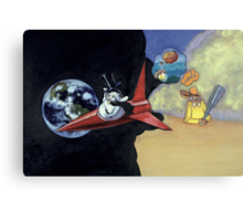 Roald Dahl and the Rocketship Rabbit Canvas Print