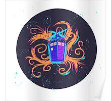 Swirly Twirly Tardis Poster