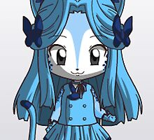 Blue Cheetah girl chibi by embers100