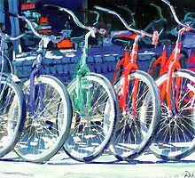 Bikes in A Row by RD Riccoboni ™ by RDRiccoboni
