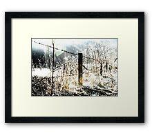 Dark fence Framed Print