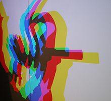 cmyk light patterns silhouette by lakazdi